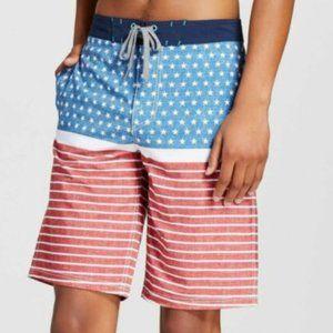 Mossimo Supply Men's Patriotic Board Shorts - 30W